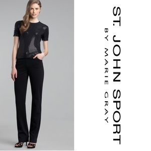 St. John Sport Black Pant with Center Seam